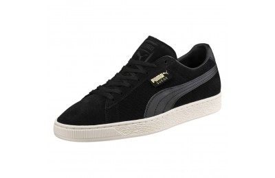 Basket Suede Classic Perforation Couleur Puma Black-Whisper White