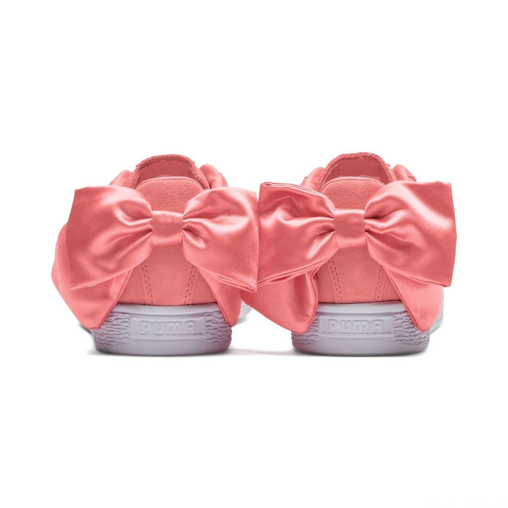 Suede Bow pour femme Couleur Shell Pink-Shell Pink
