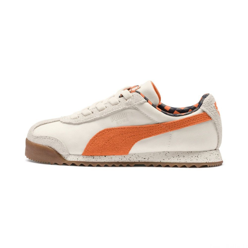 Basket PUMA x TINYCOTTONS Roma LDN Pre-School pour enfant Couleur White Asparagus-Orange-Blue