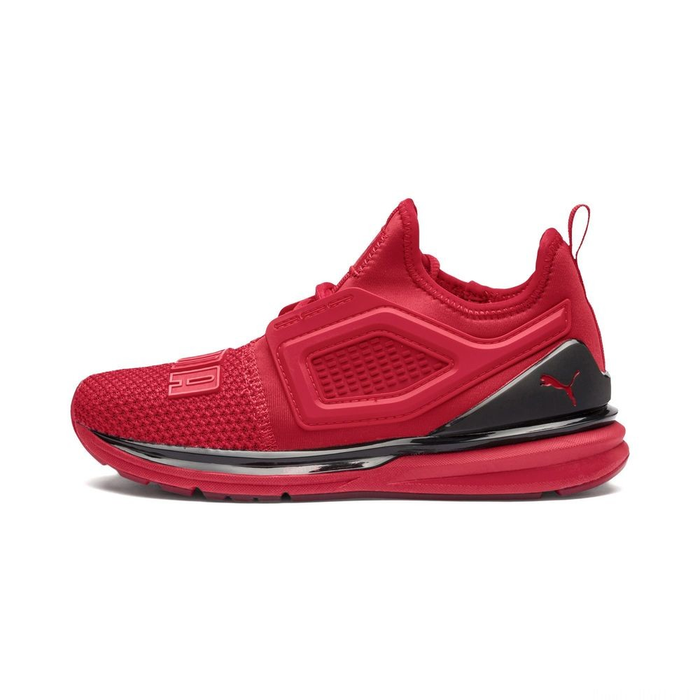 Basket IGNITE Limitless 2 pour enfant Couleur Ribbon Red-Puma Black