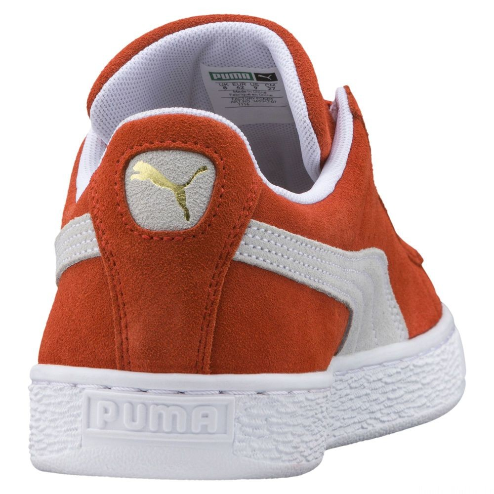 Suede Classic Couleur Burnt Ochre-Puma White