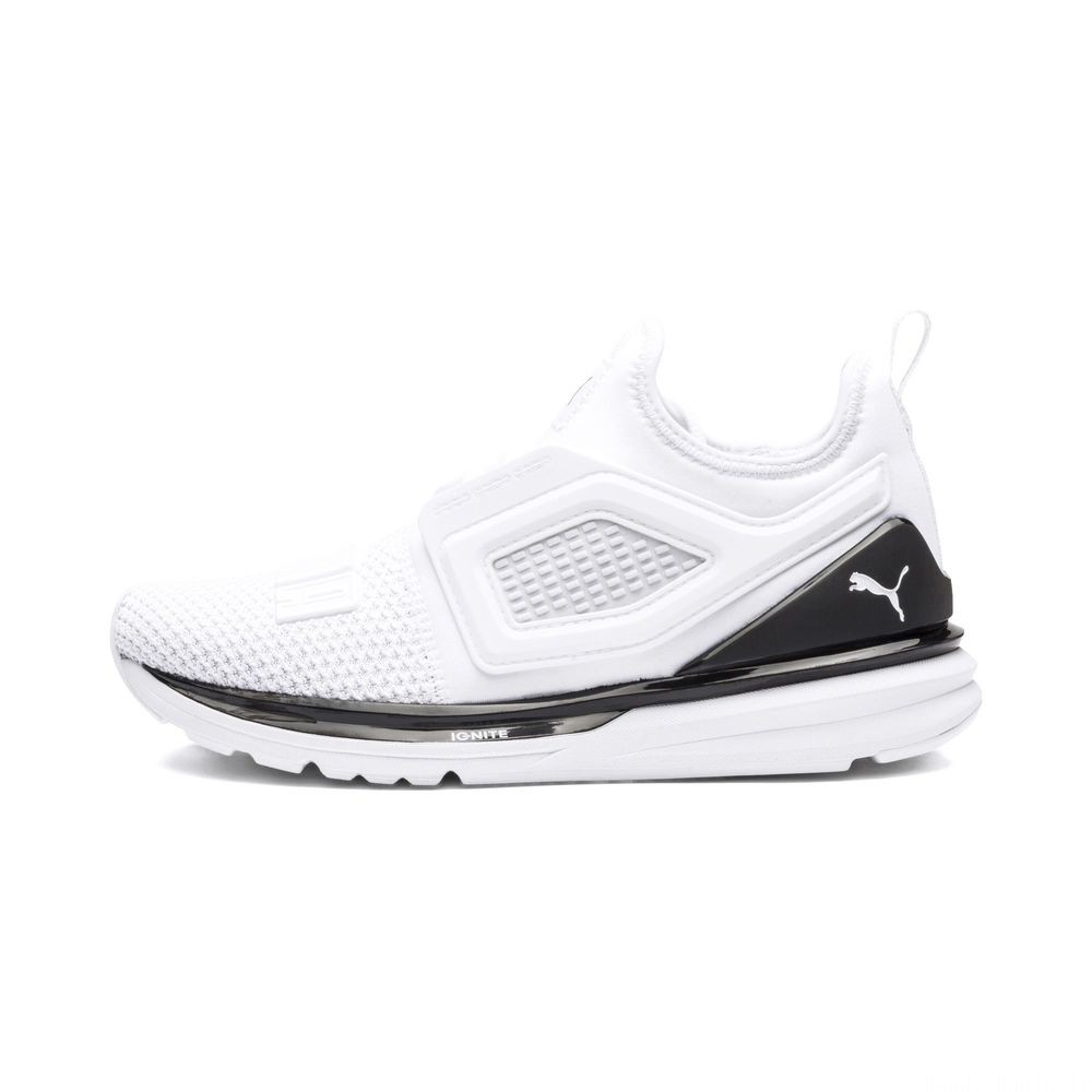 Basket IGNITE Limitless 2 pour enfant Couleur Puma White-Puma Black
