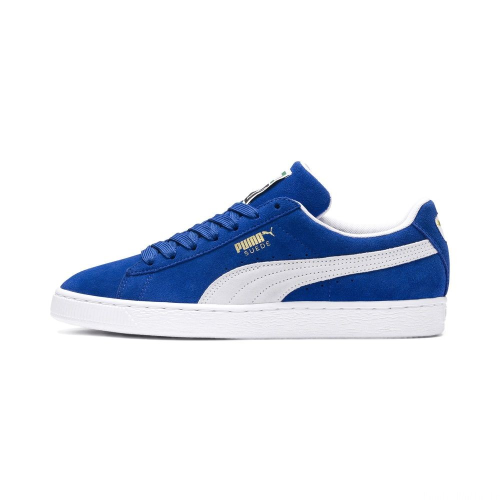 Basket Suede Classic+ Couleur olympian blue-white