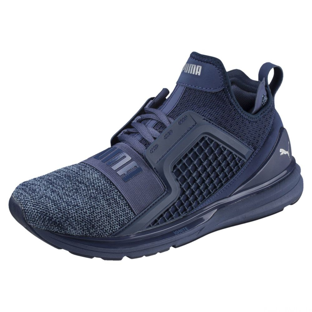 Basket IGNITE Limitless Knit pour homme Couleur Blue Indigo-Infinity