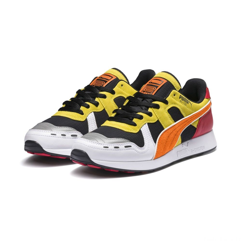 Basket PUMA x Roland RS-100 Couleur Black-Puma White- Orange