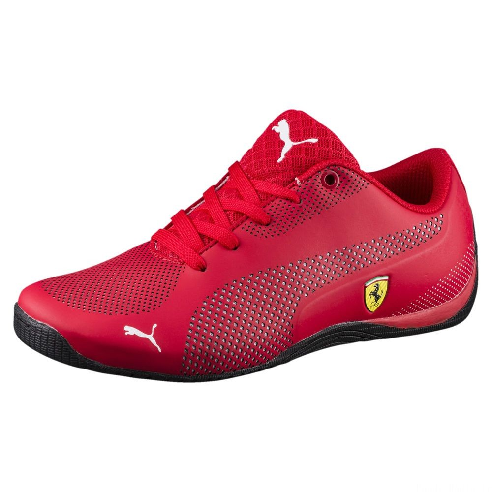 Basket Ferrari Drift Cat 5 Ultra pour enfant Couleur Rosso Corsa-Puma White