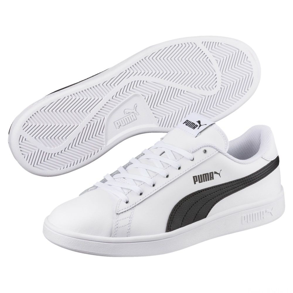 Puma Smash v2 L Couleur Puma White-Puma Black
