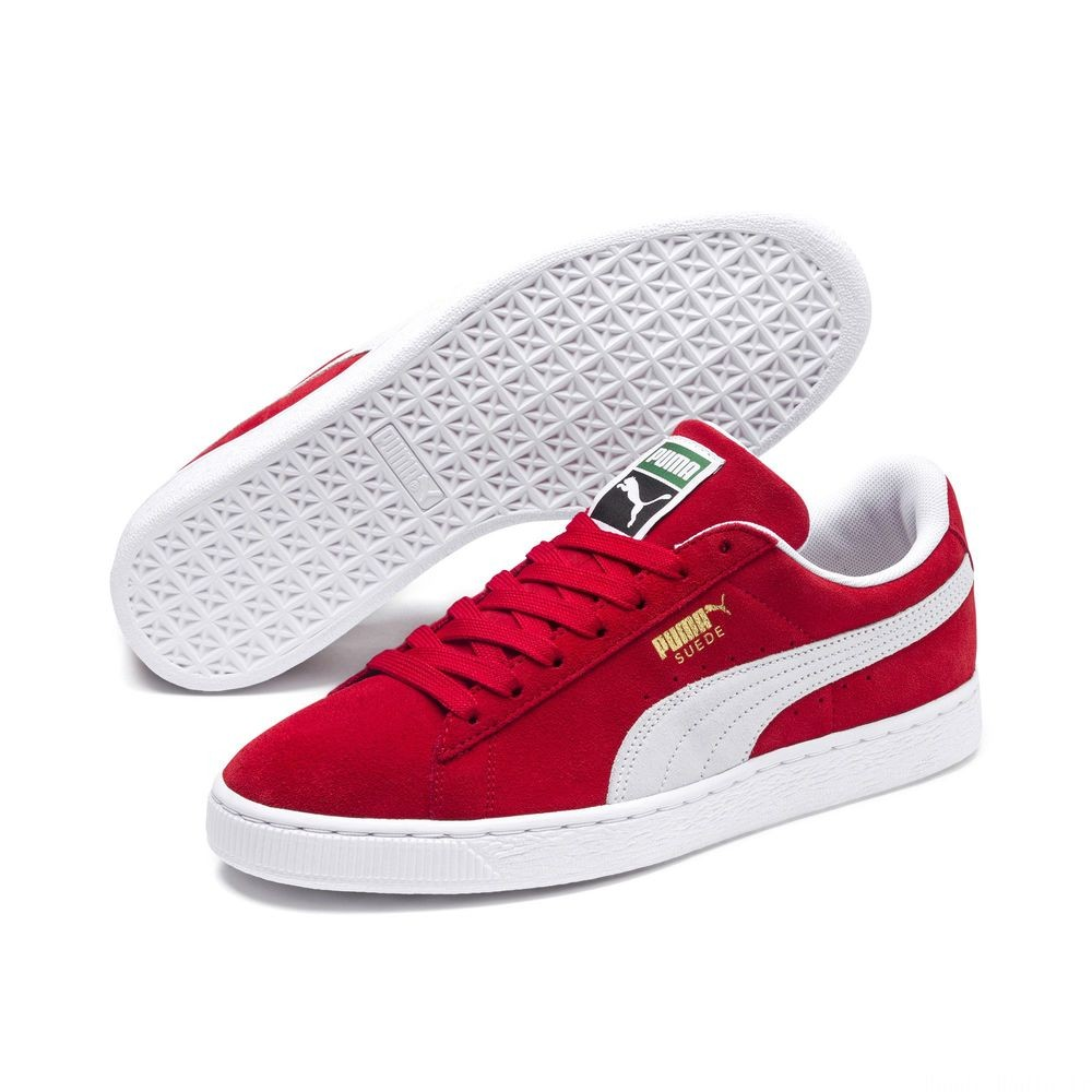 Basket Suede Classic+ Couleur high risk red-white
