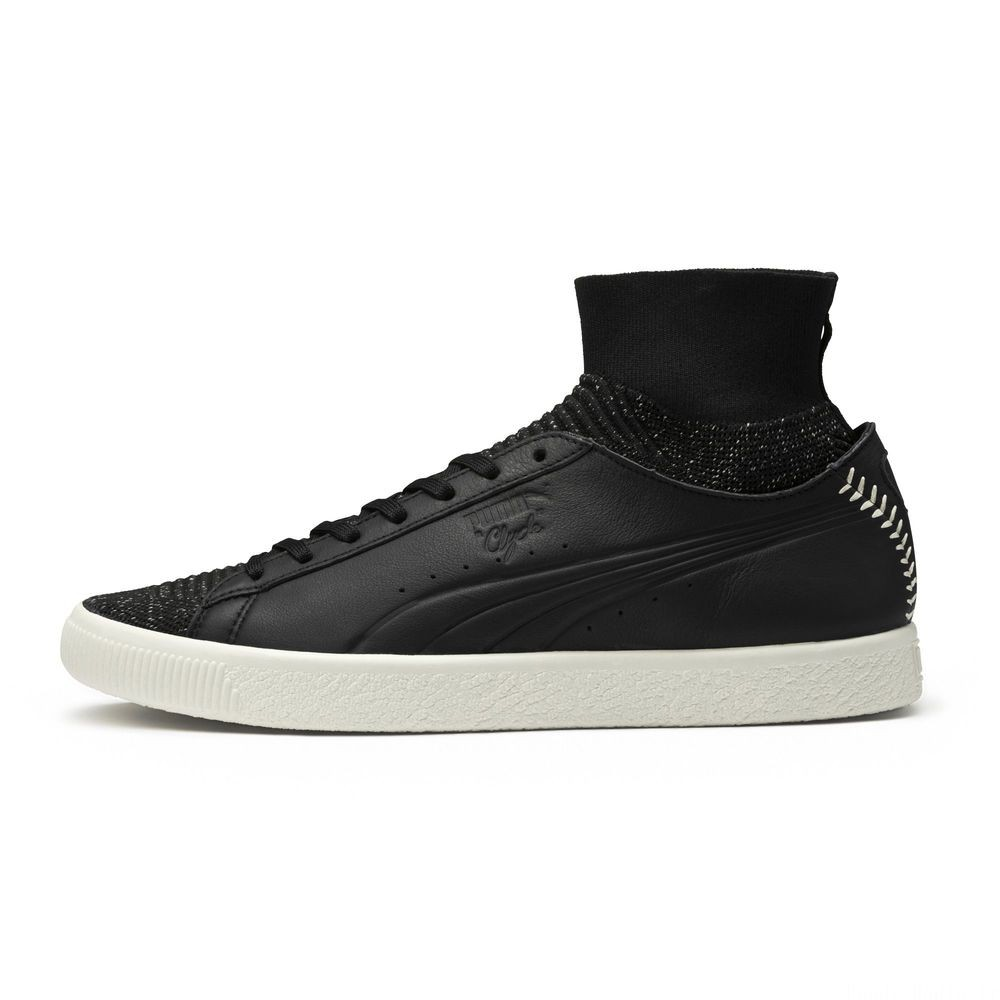 Basket Clyde Sock Pitcher Couleur Puma Black-Whisper White