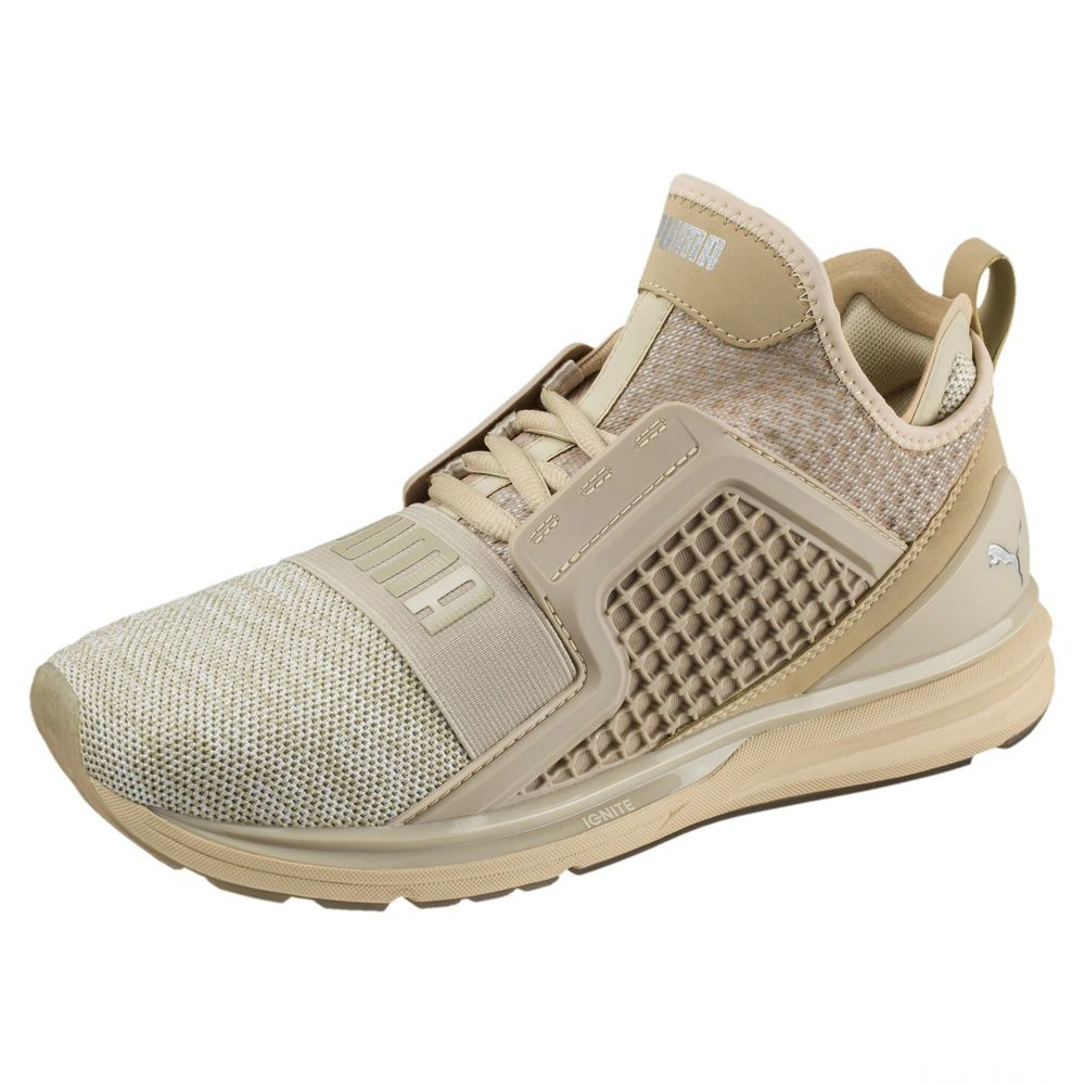 Basket IGNITE Limitless Knit pour homme Couleur Pebble-Whisper White