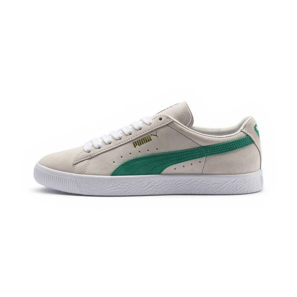 Basket Suede 90681 Couleur Whisper Wht-Green Flash- Wht