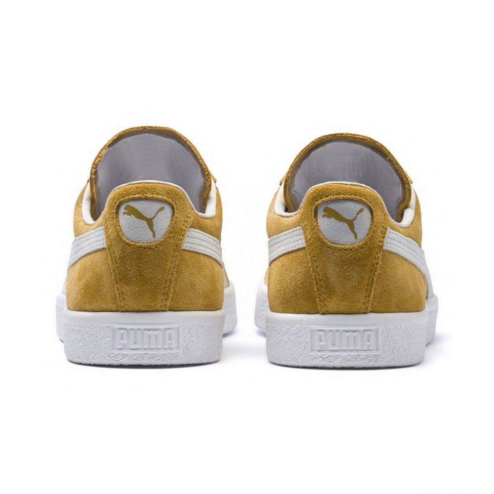 Basket Suede 90681 Couleur Honey Mustard-Puma White