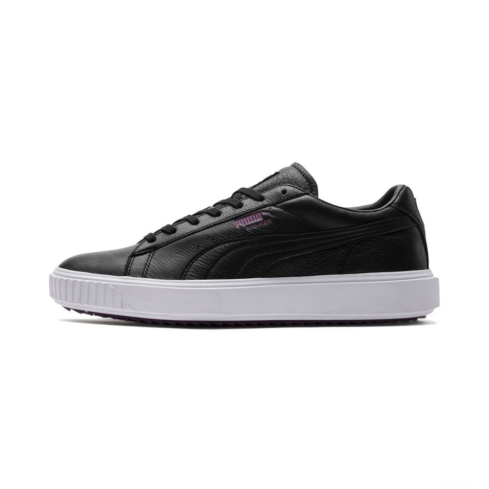 Basket Breaker Leather Evolution Couleur Puma Black-Puma White-Phlox