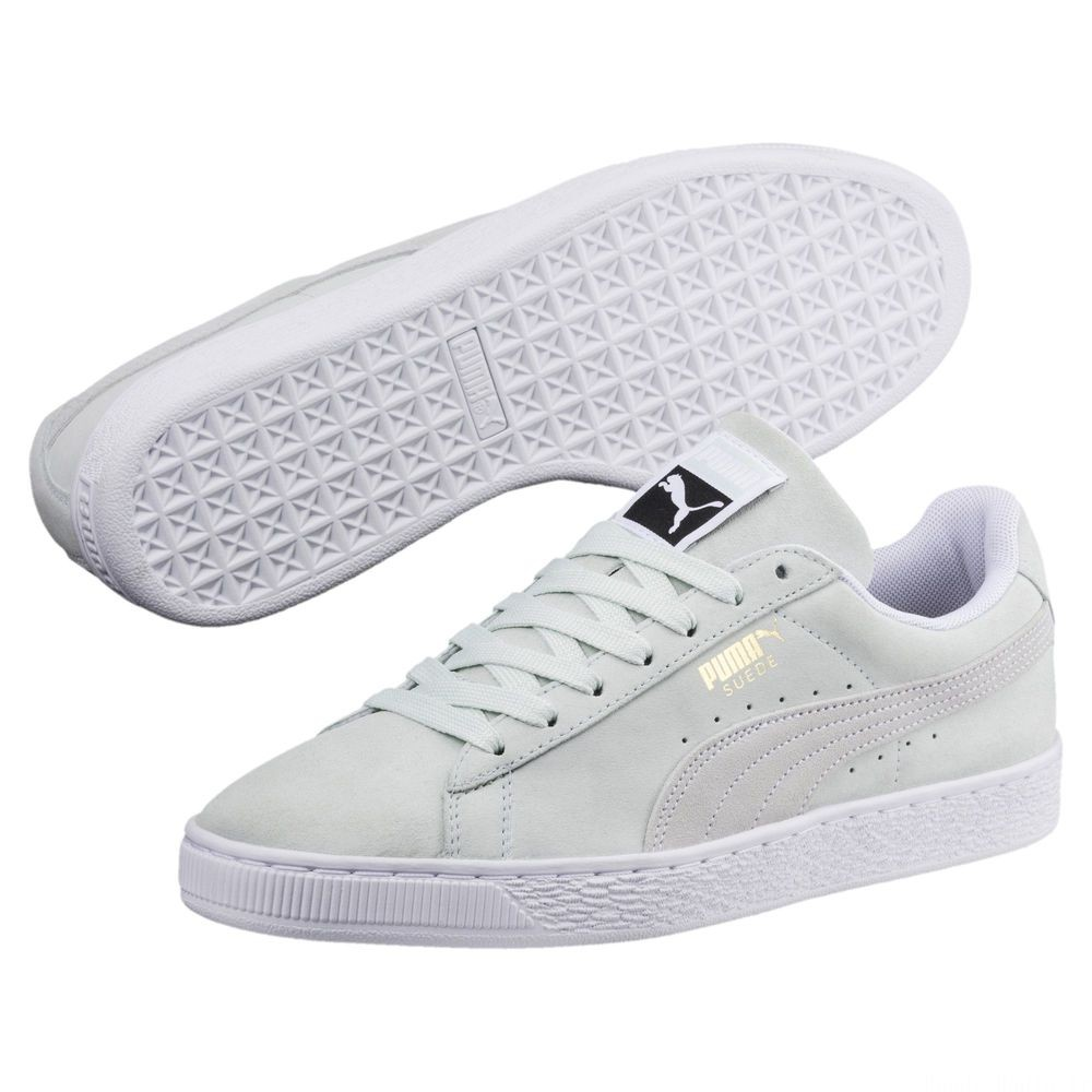 Suede Classic Couleur Blue Flower-Puma White