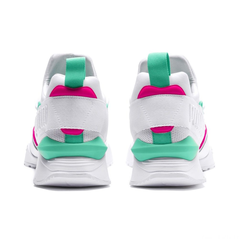 Basket Evolution Muse Maia Street 1 pour femme Couleur Puma White-KNOCKOUT PINK