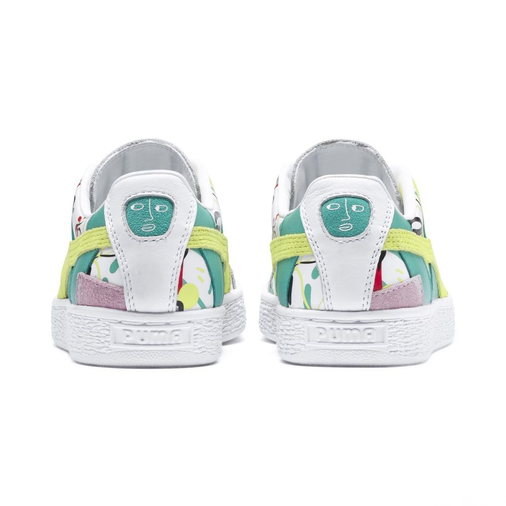 Basket Graphic PUMA x SHANTELL MARTIN Couleur Puma White-Sunny Lime