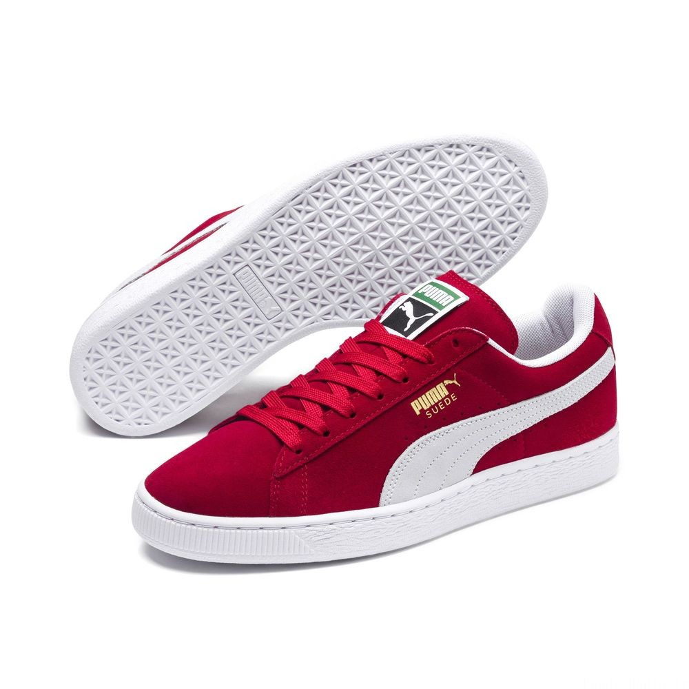 Basket Suede Classic+ Couleur team regal red-white