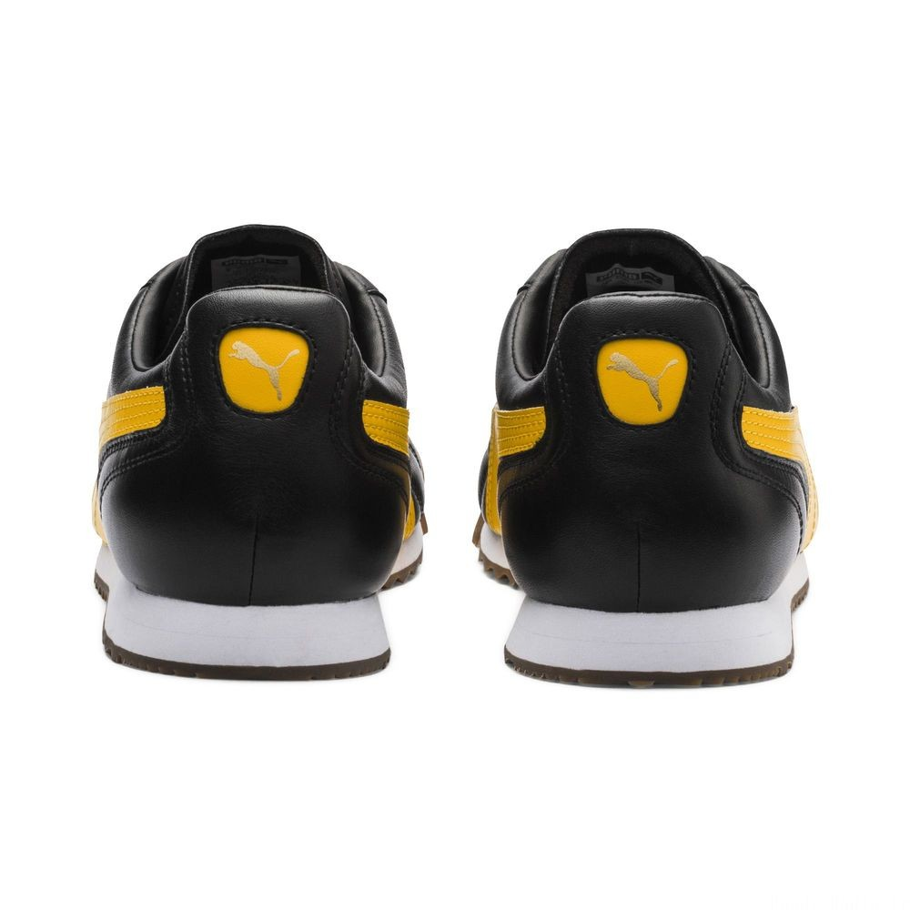 Basket Roma Anniversario Couleur Puma Black-Spectra Yellow