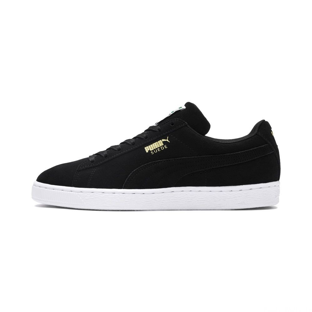 Basket Suede Classic+ Couleur black-team gold-white