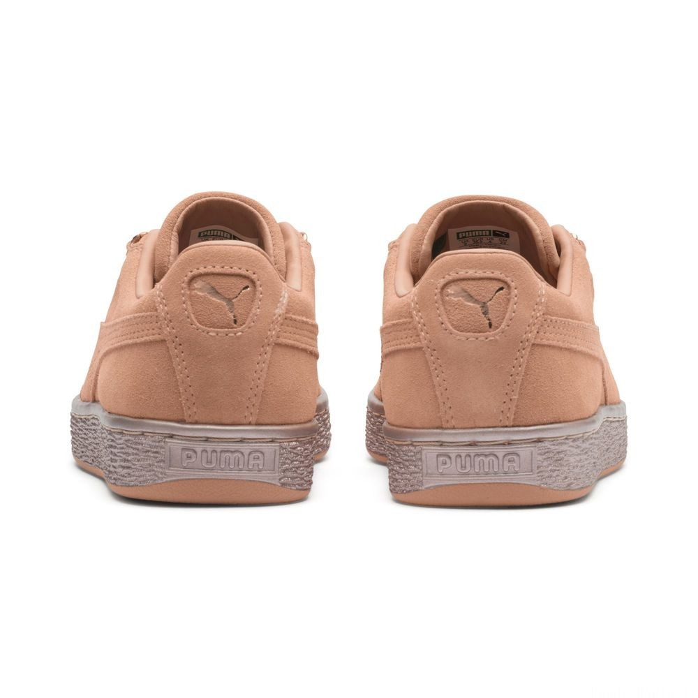 Basket Suede Classic X-chains pour enfant Couleur Dusty Coral-Rose Gold
