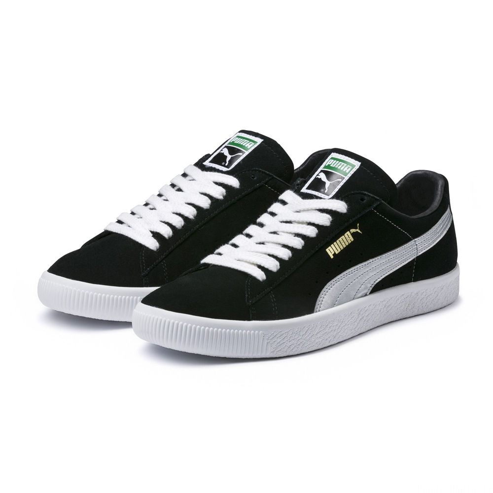 Basket Suede 90681S Couleur Puma Black-Silver