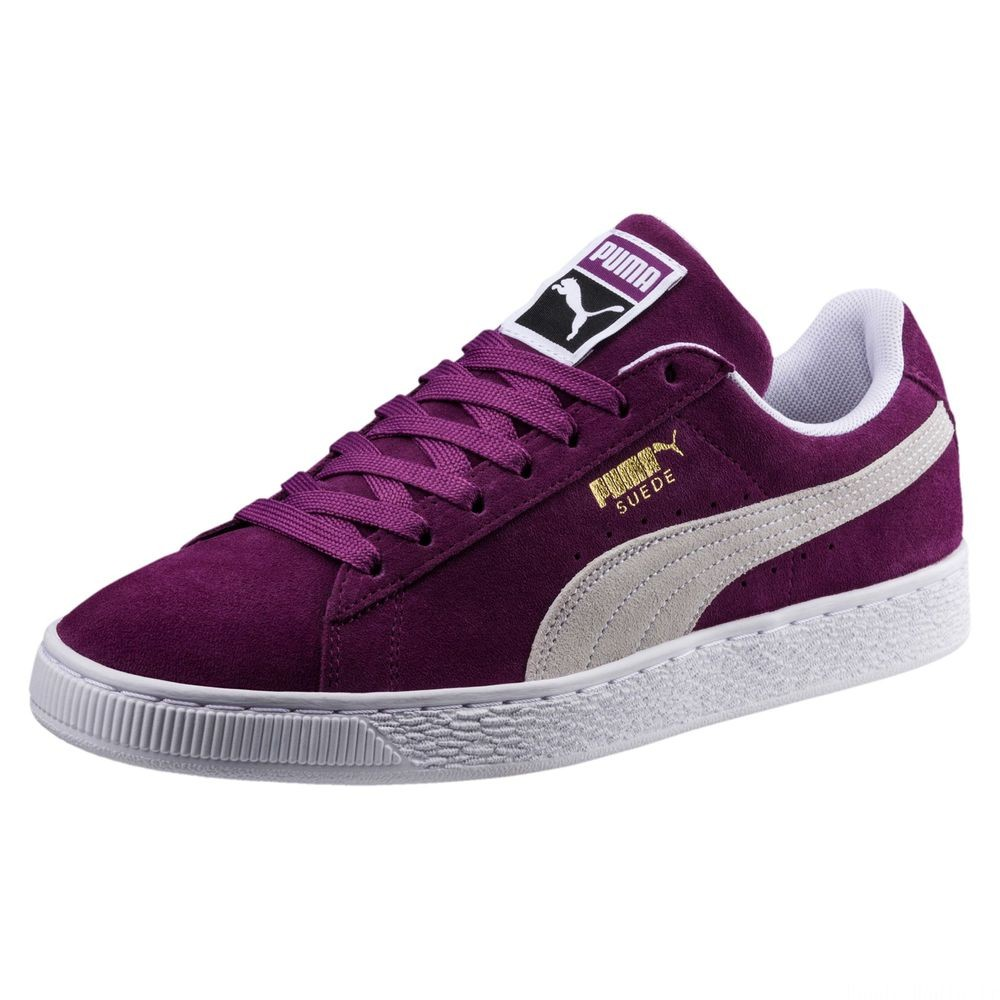 Suede Classic Couleur Grape Kiss-Puma White