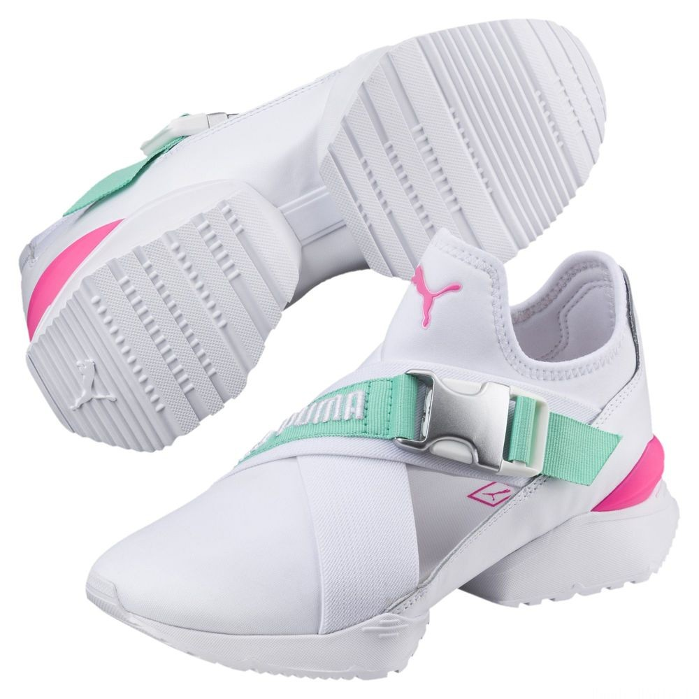 Basket Muse EOS Street 1 pour femme Couleur Puma White-Biscay Green
