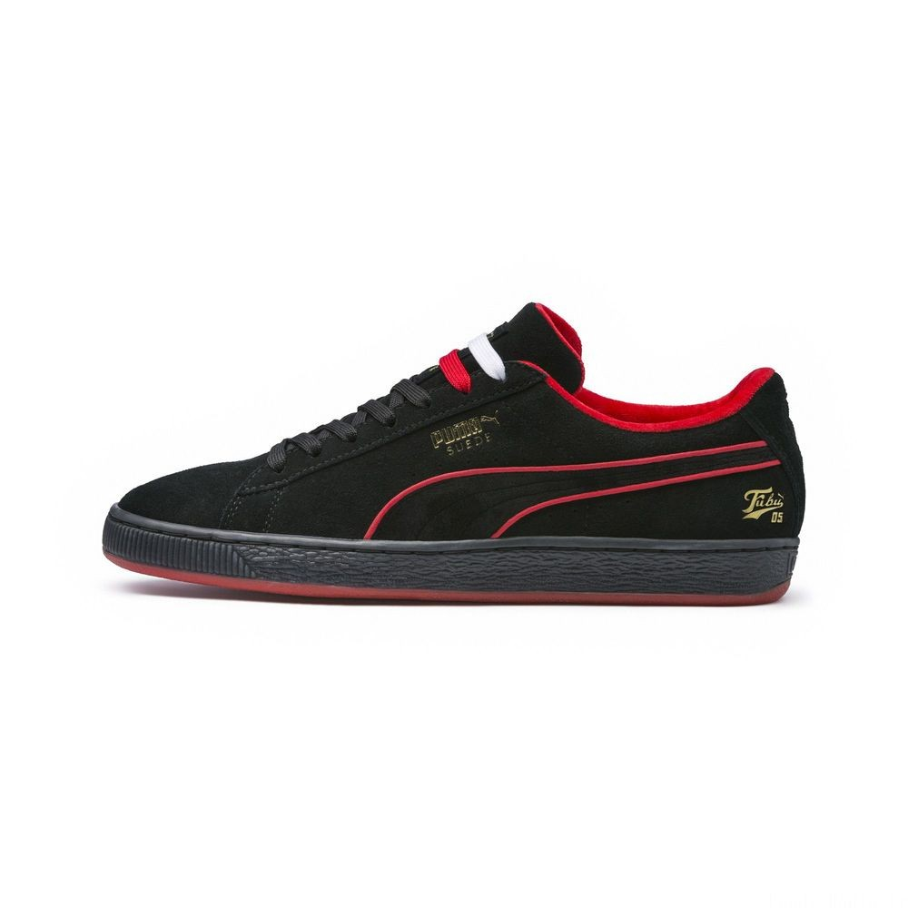 Basket PUMA x FUBU Suede Couleur Puma Black-High Risk Red