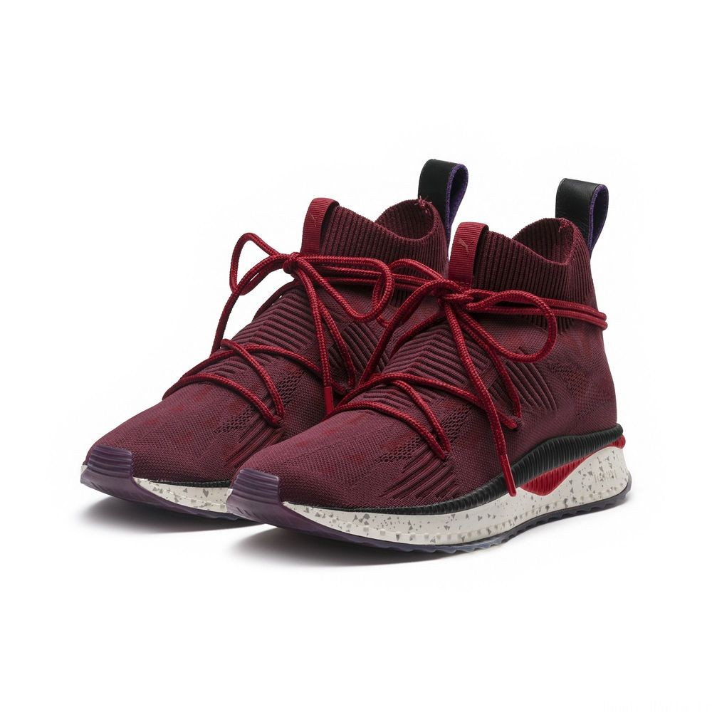 Basket TSUGI evoKNIT Sock PUMA x NATUREL Couleur Red Dahlia-Racing Red