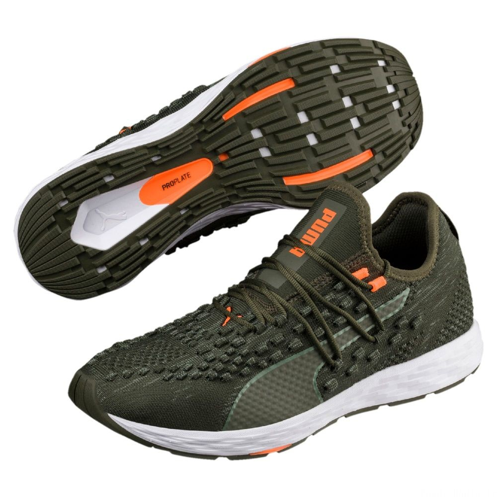 Chaussure de course SPEED RACER pour homme Couleur Forest Night-Shocking Orange