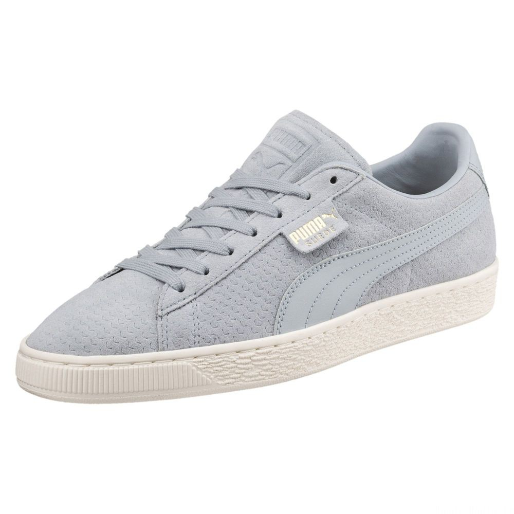 Basket Suede Classic Perforation Couleur Quarry-Whisper White