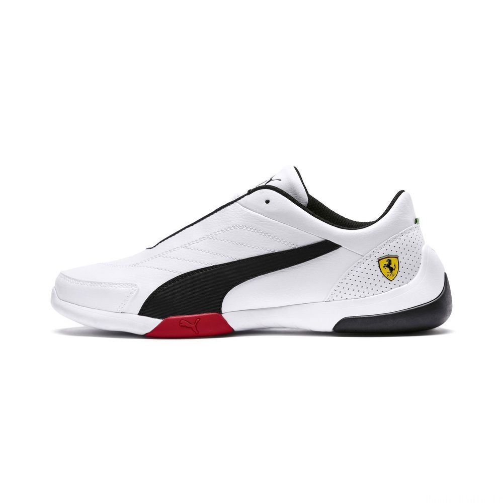 Basket Ferrari Kart Cat III Couleur Puma White-Puma Black