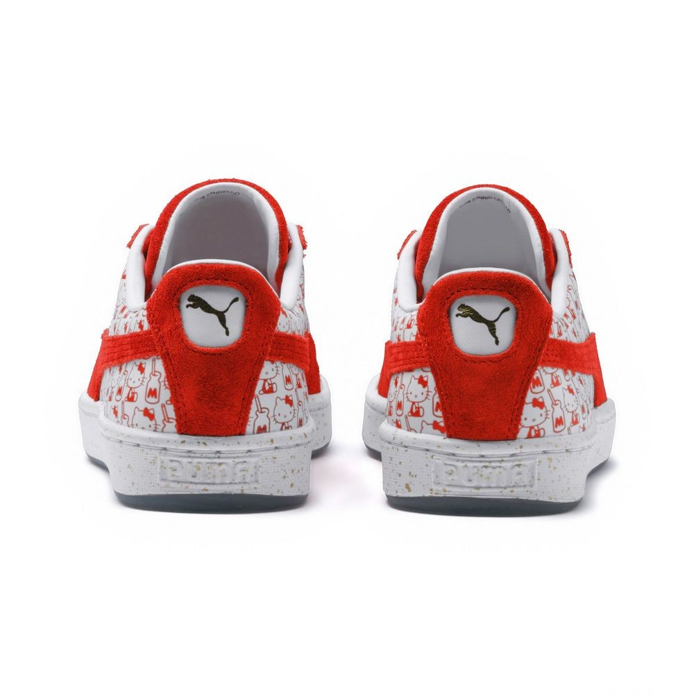 Basket PUMA x HELLO KITTY Suede pour femme Couleur Bright Red-Bright Red