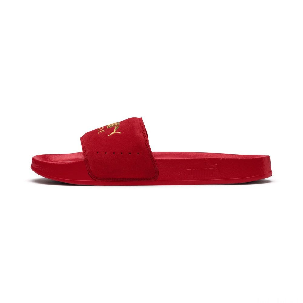 Leadcat Suede Couleur Ribbon Red-Puma Team Gold