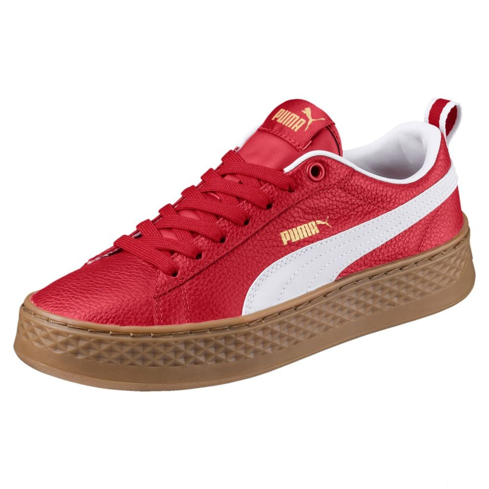 Basket Smash Platform Varsity pour femme Couleur Ribbon Red-Puma White