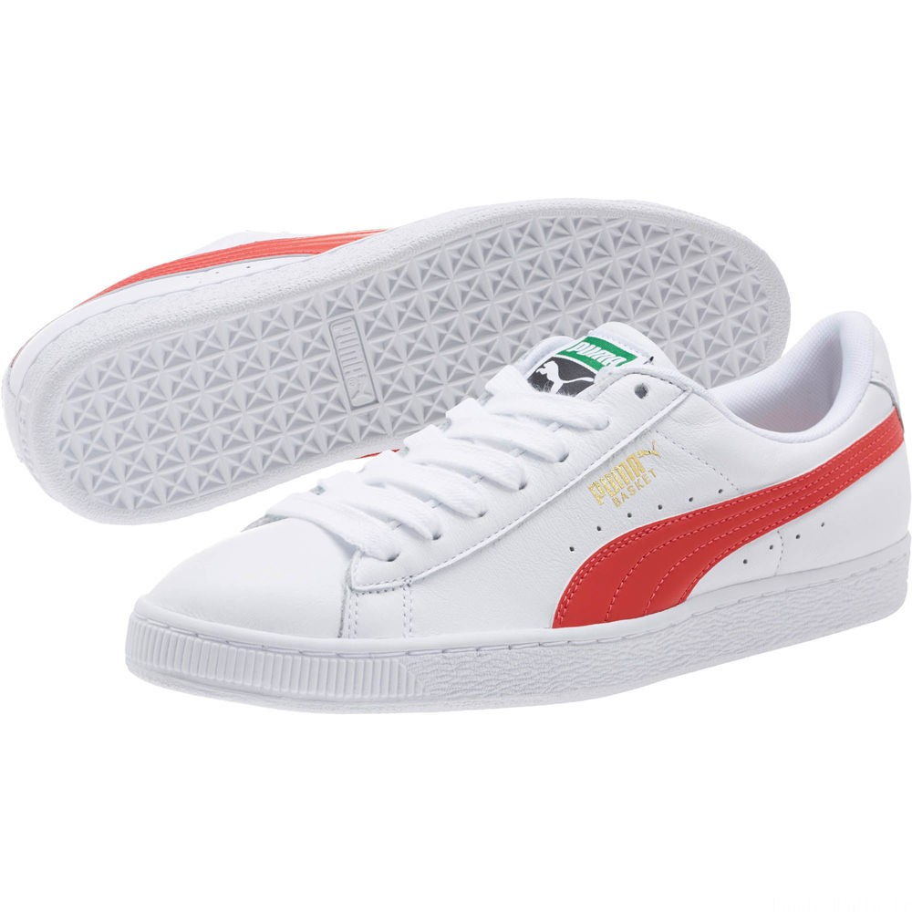 Basket Heritage Basket Classic Couleur Puma White-Flame Scarlet