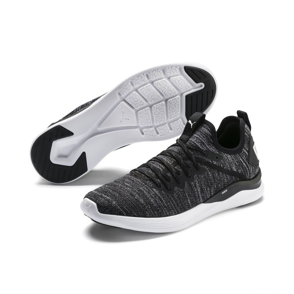 IGNITE Flash evoKNIT pour homme Couleur Black-Asphalt-White