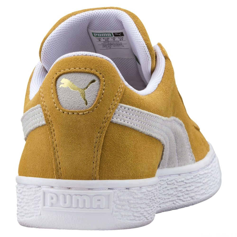 Suede Classic Couleur Honey Mustard Puma White