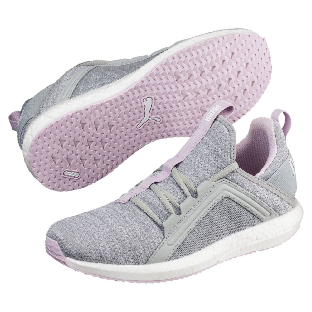 Chaussure de course Mega Energy Heather Knit pour femme Couleur Quarry-Winsome Orchid-White
