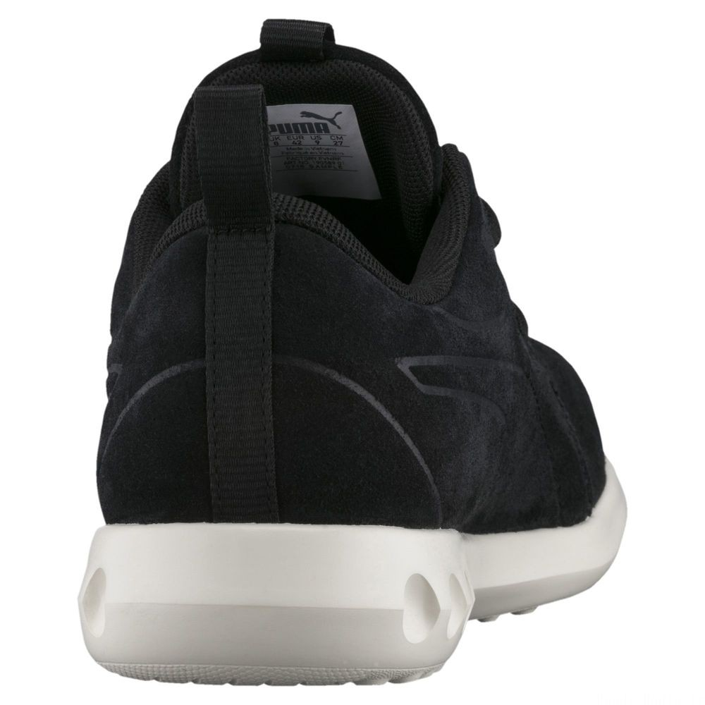 Basket Carson 2 Moulded Suede Couleur Puma Black-Whisper White