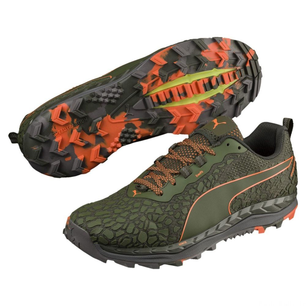Chaussure de course Speed IGNITE Trail 2 pour homme Couleur Forest Night-Firecracker