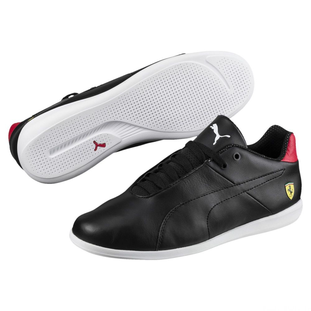 Basket Ferrari Future Cat Casual Couleur Puma Black-Blk-Rosso Corsa