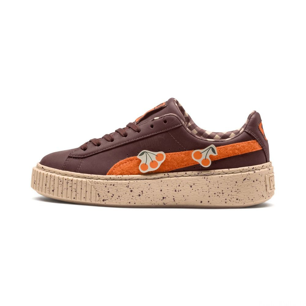 Basket PUMA x TINYCOTTONS Basket Platform LDN Pre-School pour enfant Couleur Chocolate-Orange-Appleblm