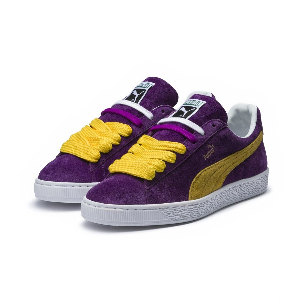 Basket Suede MIJ x Collectors Couleur Heliotrope-Spectra Yellow