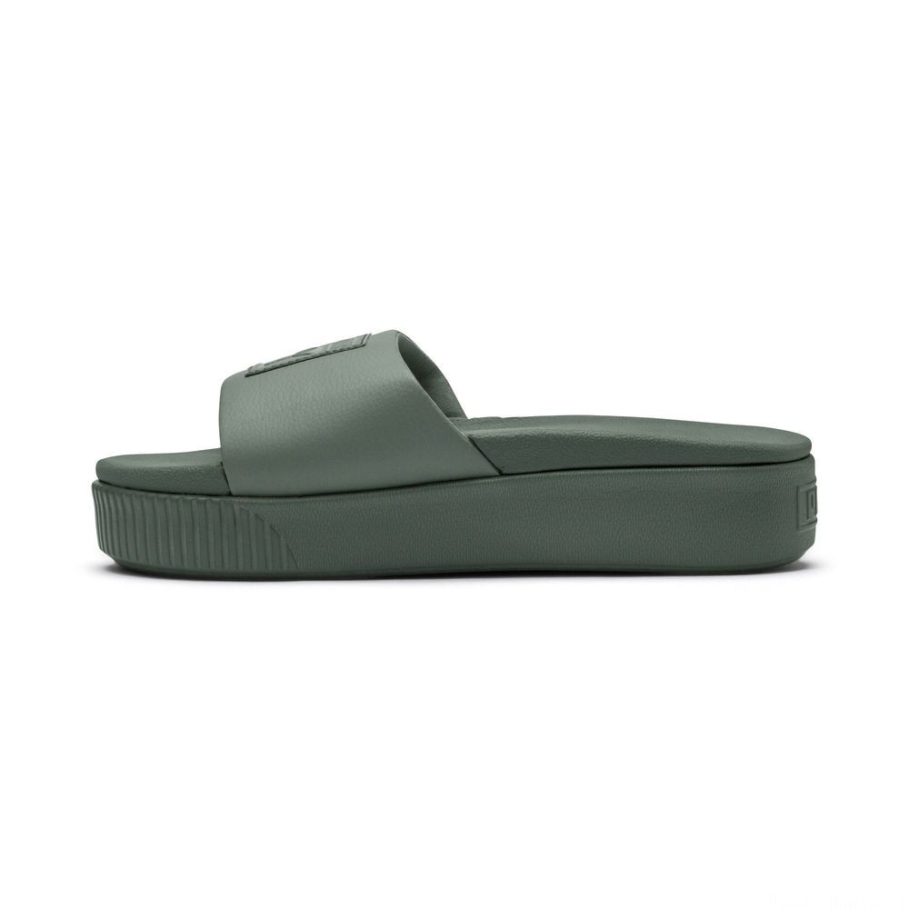 Platform Slide Wns Couleur Laurel Wreath-Puma White