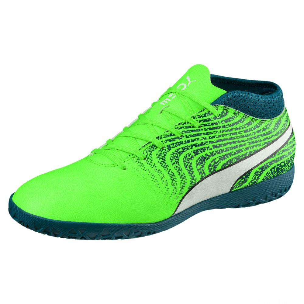 PUMA ONE 18.4 IT pour homme Couleur Green-White-Deep Lagoon