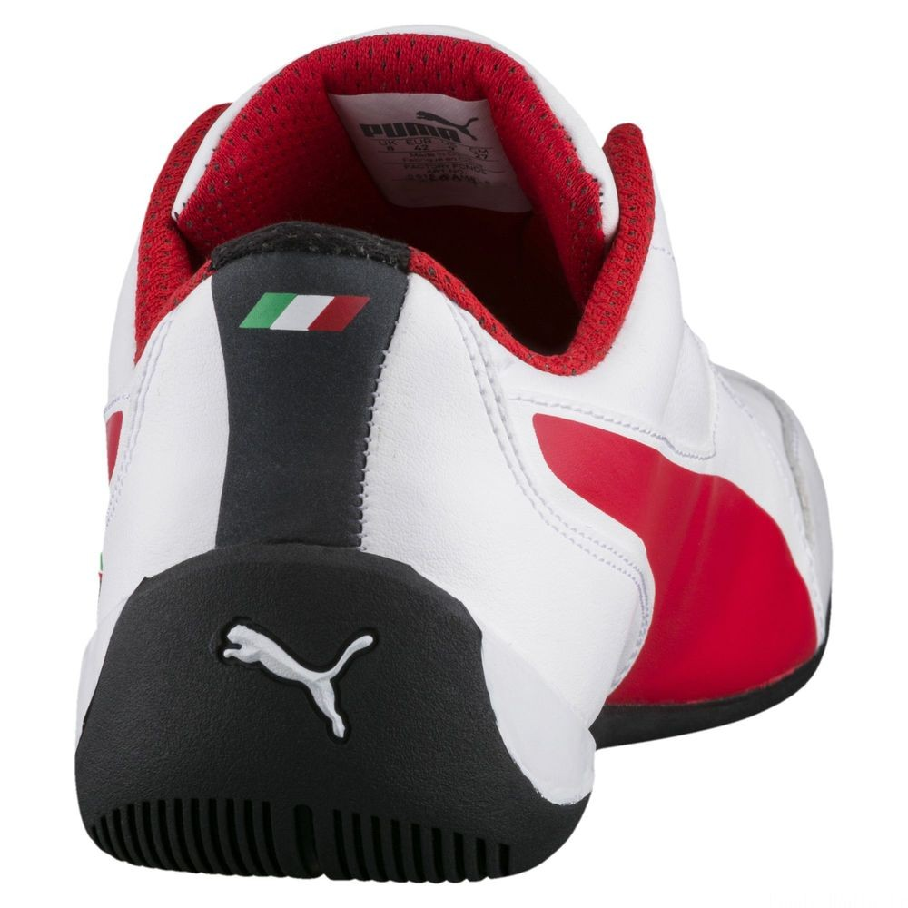 Basket Ferrari Drift Cat 7 Couleur Puma White-Rosso Corsa-Black