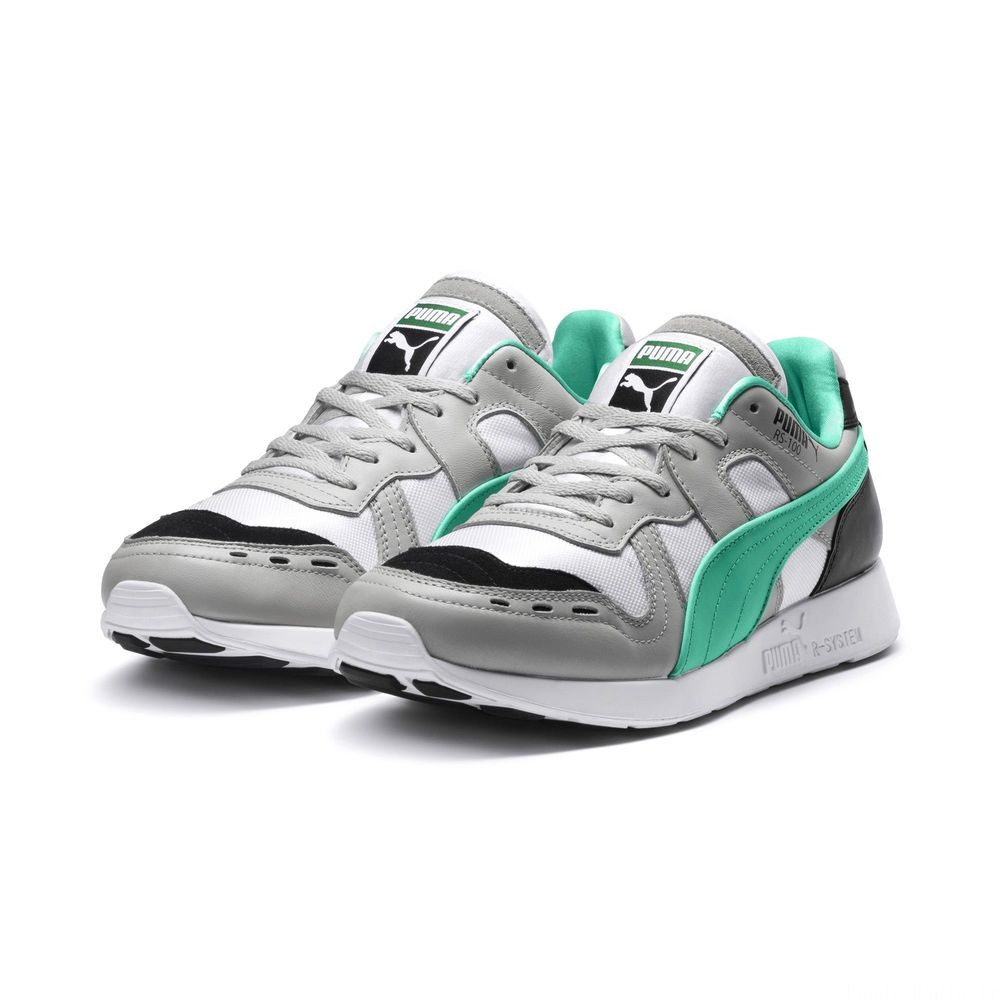 Basket RS-100 Re-Invention Couleur GrayViolet-BiscayGreen-White