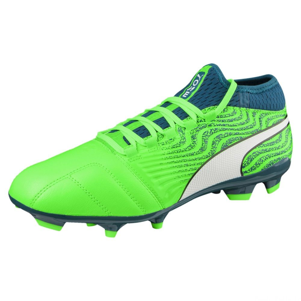 Chaussure de foot ONE 18.3 AG pour homme Couleur Green-White-Deep Lagoon