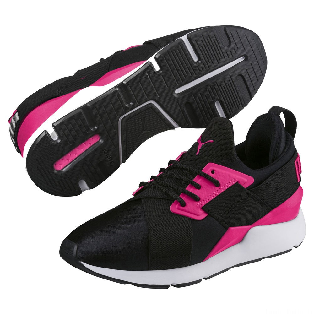 Basket Muse pour enfant Couleur Puma Black-Beetroot Purple